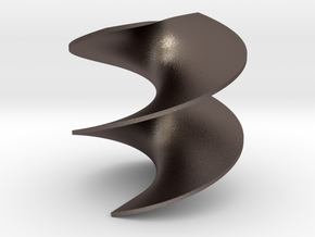 Helicoid Minimal Surface in Polished Bronzed Silver Steel