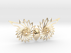Owl Eyes - 7cm in 14K Yellow Gold
