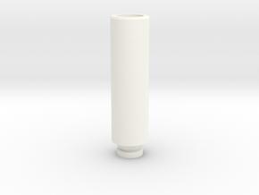 Drip Tip in White Processed Versatile Plastic
