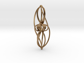 Libella Earrings  - 20mm in Natural Brass