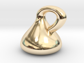 Klein Bottle - Non-Orientable Surface in 14K Yellow Gold