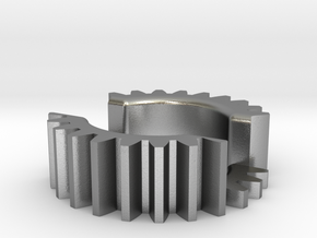 Gear Business Card Holder - Precious Metal in Natural Silver
