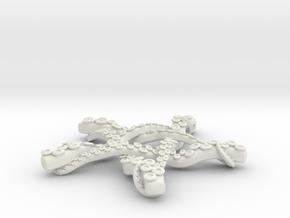 Tentacle Pentacle in White Natural Versatile Plastic