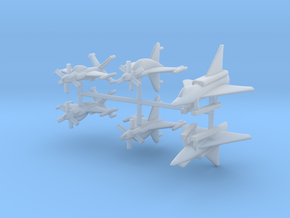 1/600 Experimental Aircraft Set 4 in Smooth Fine Detail Plastic