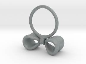 Bow ring in Polished Metallic Plastic