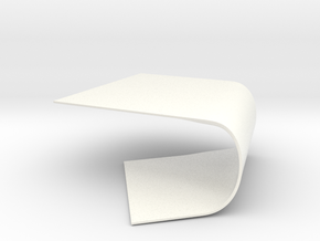 Warped Surface Table in White Strong & Flexible Polished