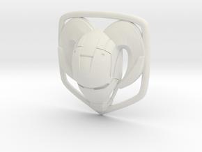 IronRam1.1 7cm in White Natural Versatile Plastic