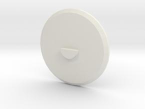 Disk in White Natural Versatile Plastic