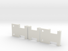 Ord Bot Hadron - Hall effect Endstop holders in White Strong & Flexible