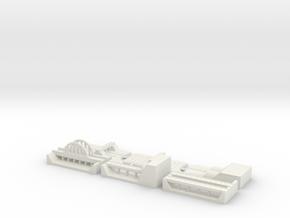 "1"" Building Set 6 - Freeway in White Natural Versatile Plastic"