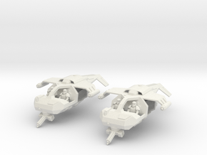 15mm Legionary Gun-Speeders (x2) in White Natural Versatile Plastic
