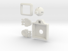 Pi Camera Balljoint in White Natural Versatile Plastic