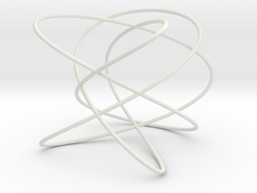 Lissajous (5, 4, 3) (0, π/2, π/2) in White Natural Versatile Plastic