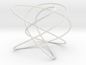 Lissajous (5, 4, 3) (0, π/2, π/2) in White Natural Versatile Plastic
