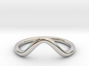 Wave Midi Ring in Platinum