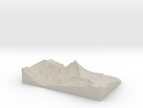 Model of Cervinia in Sandstone