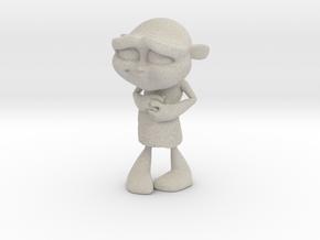 Gus Figurine - Medium - Plastic in Natural Sandstone
