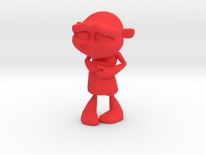 Gus Figurine - Small - Plastic in Red Strong & Flexible Polished