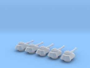Panzer Mk IVsf cannon turrets in Smooth Fine Detail Plastic