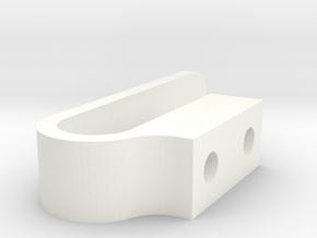 LatchClip in White Processed Versatile Plastic