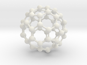 Buckyball C60 in White Natural Versatile Plastic