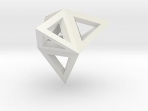 tetraeder mit tetraedern in White Strong & Flexible