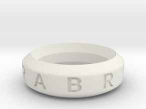 Abracadabra Ring in White Natural Versatile Plastic