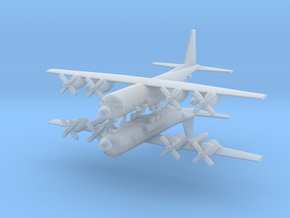1/600 AC-130U Spooky II Gunship (x2) in Smooth Fine Detail Plastic