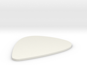 Guitar Pick 0,75 mm in White Natural Versatile Plastic