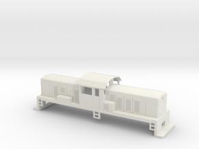 DSC Locomotive, New Zealand, (HO Scale, 1:87) in White Natural Versatile Plastic