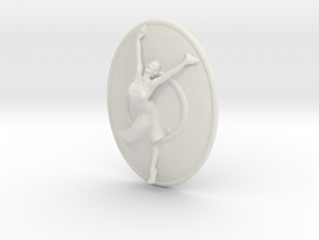 Joyful Dancer Necklace Pendant With Circle in White Strong & Flexible