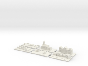 "1"" Building Set 9 - World War One Set 2 in White Natural Versatile Plastic"