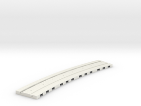 P-165stp-long-curved-r2-tram-track-100-pl-2a in White Natural Versatile Plastic