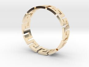Meander Ring X12 in 14K Yellow Gold