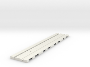 P-165stp-long-straight-tram-track-100-pl-2a in White Natural Versatile Plastic