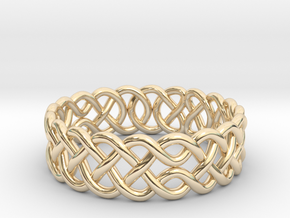 Celtic Ring - 17mm ⌀ in 14K Yellow Gold