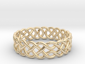 Celtic Ring - 19mm ⌀ in 14K Yellow Gold