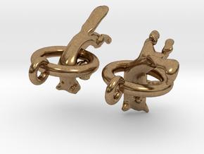 Fox Earrings in Natural Brass
