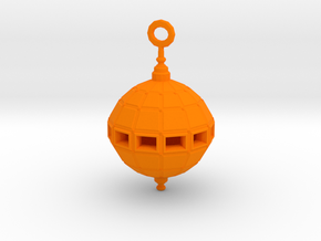 Grenade Bomb Pendant synthetic in Orange Processed Versatile Plastic