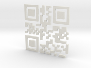 Bitcoin QR Code in White Natural Versatile Plastic