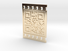 OCCUPY NEW YORK QR CODE 3D 50mm in 14K Yellow Gold