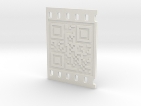 OCCUPY NEW YORK QR CODE 3D in White Natural Versatile Plastic