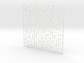 Find your way 3D in White Natural Versatile Plastic