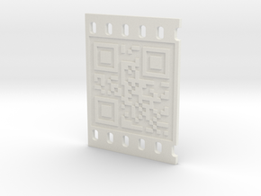 OCCUPY NEW YORK QR CODE 3D 50mm in White Natural Versatile Plastic