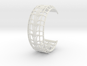 Tire Bracelet in White Natural Versatile Plastic