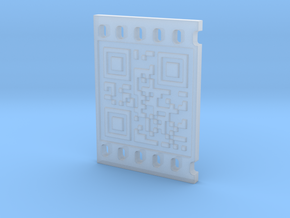 OCCUPY NEW YORK QR CODE 3D 30mm in Smooth Fine Detail Plastic