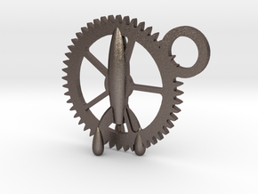 Gear-rocket in Polished Bronzed Silver Steel