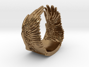 Wings Ring in Natural Brass