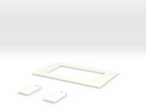 FPV Goggles Lens Holder - Quanum (Hobby King) in White Strong & Flexible Polished