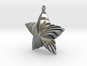 Tortuous Star Pendant in Natural Silver